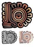 玛雅的纵的沟纹 免版税库存照片