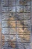 玛雅的纵的沟纹 免版税库存图片