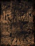 玛雅的grunge 库存图片