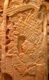 玛雅石碑 图库摄影