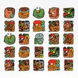 玛雅种族例证 免版税图库摄影