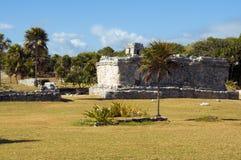 玛雅金字塔, Tulum,墨西哥 免版税图库摄影