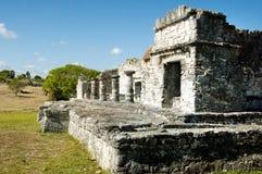 玛雅金字塔, Tulum,墨西哥 免版税库存照片