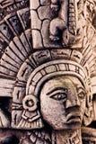 玛雅雕塑 免版税图库摄影