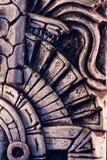 玛雅雕塑 免版税库存照片