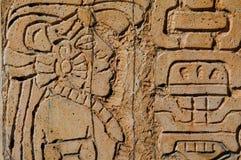 玛雅雕象战士 库存图片