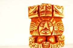 玛雅雕象特写镜头  库存图片