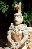 玛雅雕象 免版税库存照片
