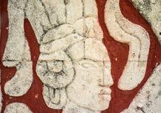 玛雅雕刻 免版税库存图片