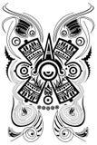 玛雅风格化符号纹身花刺向量 库存图片