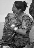 玛雅婴孩举行的画象由他的母亲的 库存照片