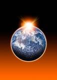 玛雅calander的地球 免版税库存图片