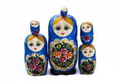 玩偶俄语被堆积 免版税库存照片