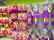 玩偶品种在超大商店的 图库摄影