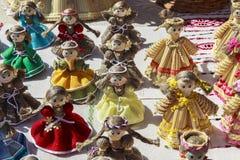 玩偶在雅罗斯拉夫尔市,俄罗斯博物馆  库存照片