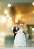 玩偶微型婚礼 库存照片