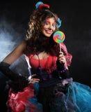 玩偶方式射击样式妇女 创造性组成 幻想d 免版税库存图片