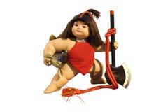 玩偶日本人kintaro 免版税库存照片