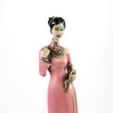 玩偶由陶瓷妇女形象做了†‹â€ ‹ 库存图片