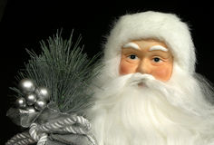 玩偶纵向圣诞老人 库存图片