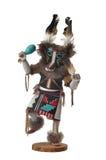 玩偶霍皮族kachina狼 免版税库存照片