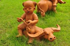 玩偶黏土在市场上 库存图片