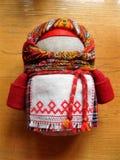 玩偶motanka从乌克兰的全国护符 免版税库存照片