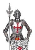 玩具中世纪骑士 库存照片