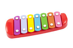 玩具五颜六色的木琴 免版税库存照片
