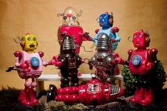 玩具会集06的罐子机器人 库存图片