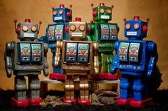 玩具会集07的罐子机器人 免版税库存照片