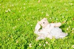 玩具兔子弓 免版税库存照片