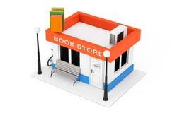 玩具动画片书店或书店大厦门面 3D renderin 免版税库存图片