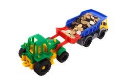玩具卡车和推土机 图库摄影