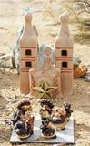 玩具墨西哥流浪乐队结合和教会 库存照片