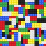 玩具大厦砖背景 免版税库存照片