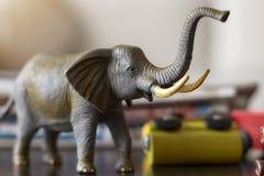 玩具大象 免版税库存照片
