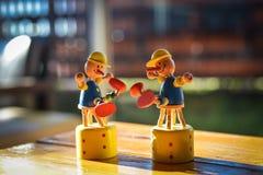 玩具夫妇 库存图片