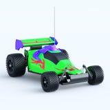 玩具小汽车赛无线电盘区 免版税库存图片