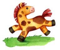 玩具小马赛跑 库存图片