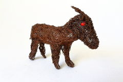 玩具山羊 免版税库存图片