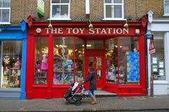 玩具店在伦敦 免版税库存照片