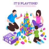 玩具建设者等量海报 库存例证