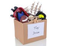玩具推进捐赠配件箱 图库摄影
