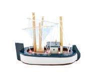 玩具木帆船 库存图片