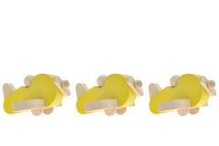 玩具木飞机 免版税库存图片