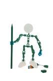 玩具机器人和工具记录信息 图库摄影