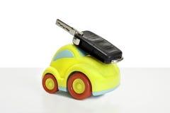 玩具汽车的宏观射击 免版税库存图片