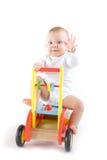 玩具汽车的婴孩 免版税图库摄影
