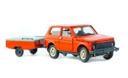 玩具汽车被隔绝的模型 免版税库存图片